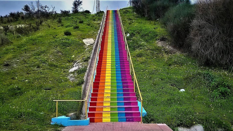 FromMalaga: La escalera arcoiris de Estepona